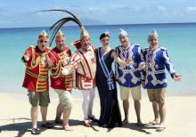 D'dorfer Delegation beim Karneval auf den Seychellen